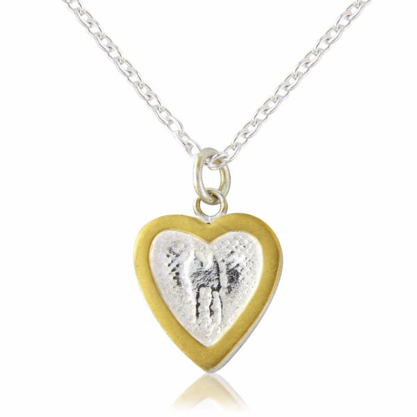 Heart Necklace with Golden Frame