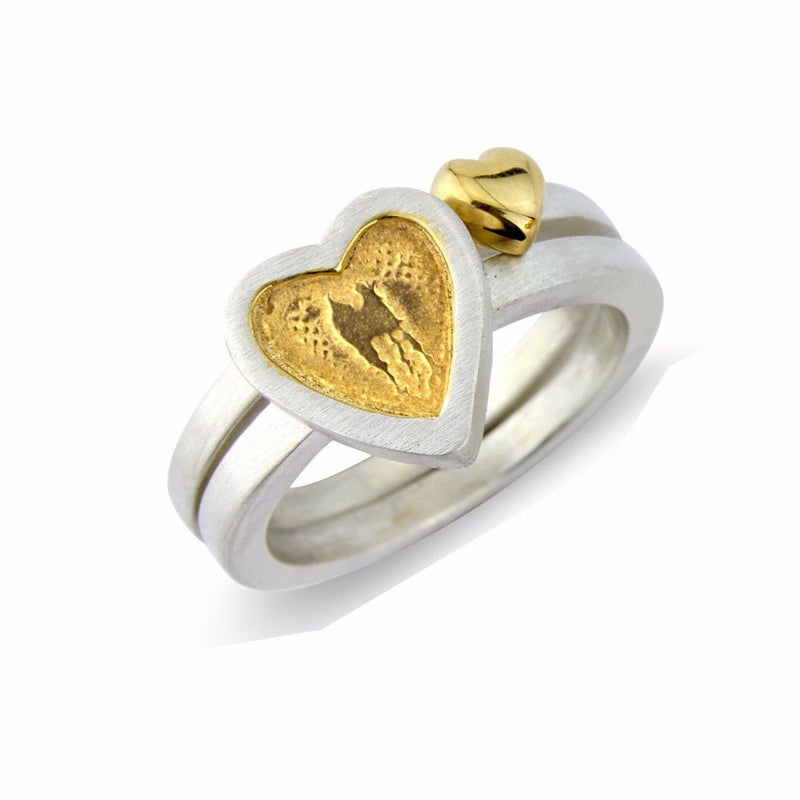 Heart to Heart and Little Golden Heart Rings