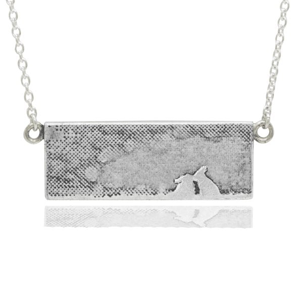 Kissing Bunny Rabbit Necklace