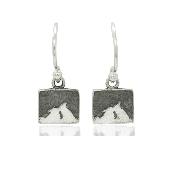 Kissing Bunny Rabbit Night's Sky Earrings