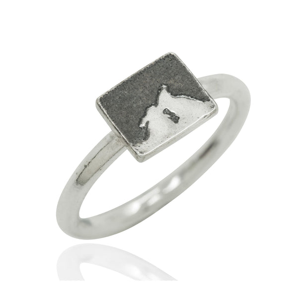 Kissing Bunny Rabbit Night's Sky Ring