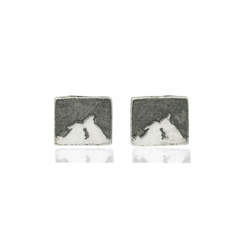 Kissing Bunny Rabbit Night's Sky Stud Earrings