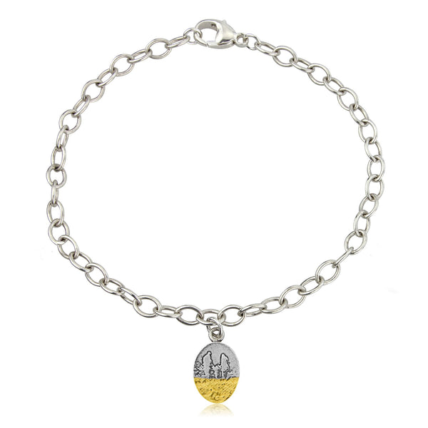 Little Footprints in the Sand Family Bracelet