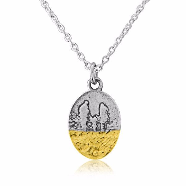 Little Footprints in the Sand Family Necklace
