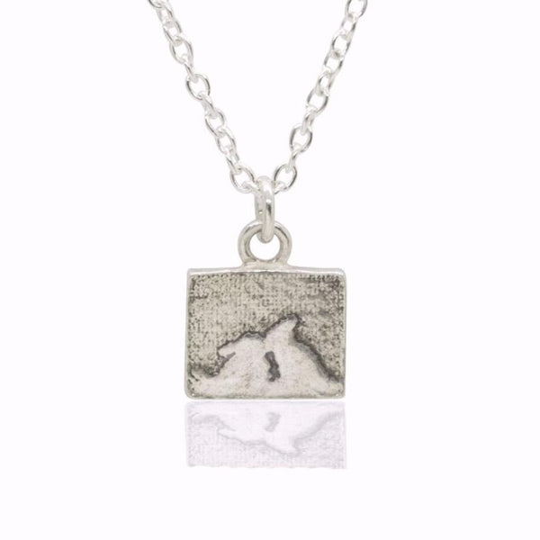 Little Kissing Bunny Rabbit Necklace