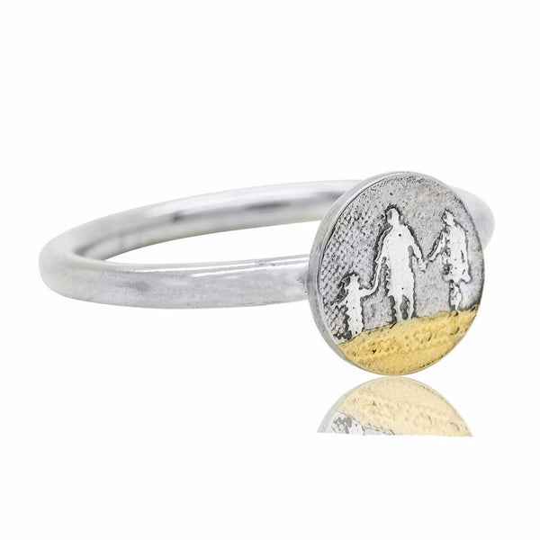 Little Round Beach Family Ring