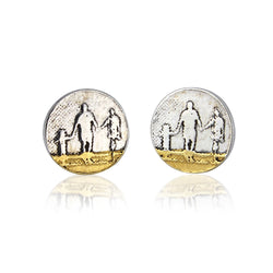 Little Round Beach Family Stud Earrings