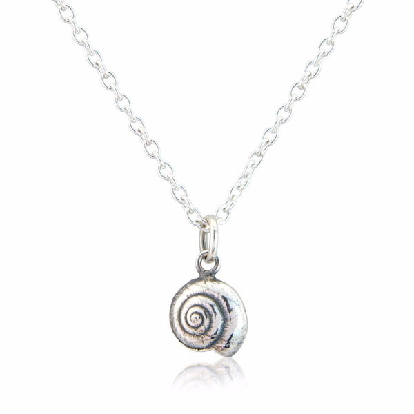 Little Round Silver Shell Necklace