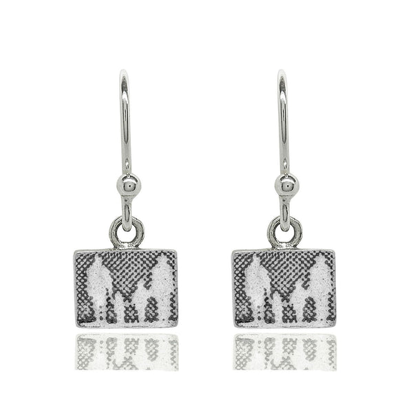 Little Silver Family Drop Earrings