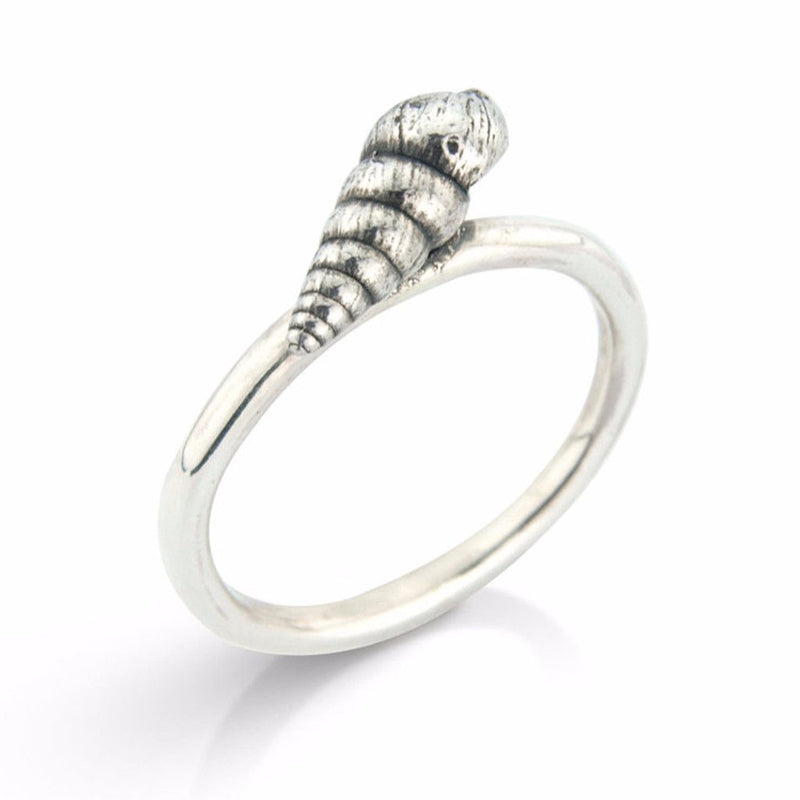 Little Silver Spiral Shell Ring