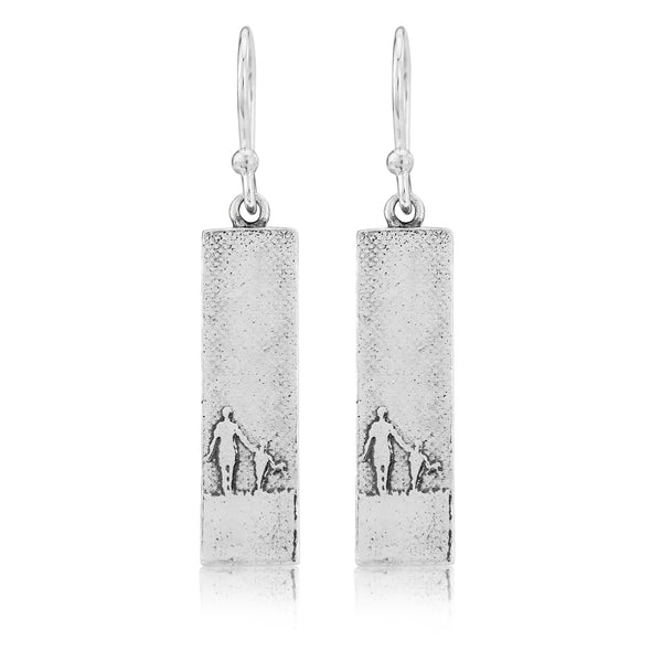 Mother and Child Drop Earrings