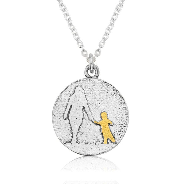 Mother and Golden Child Necklace (medium)