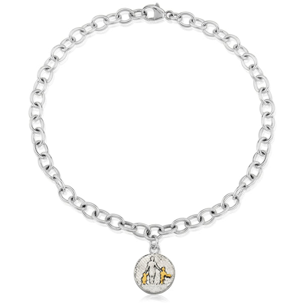 Mother of Two Silver Bracelet