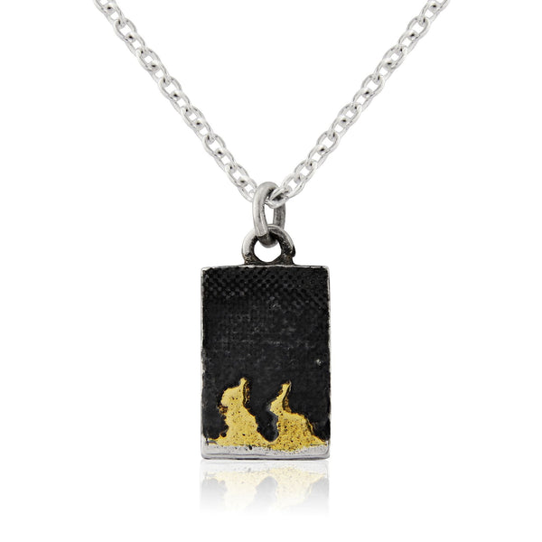 Nights Sky Bunny Necklace
