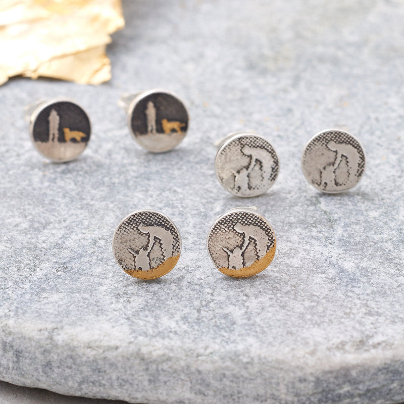 Night's Sky Dog Stud Earrings