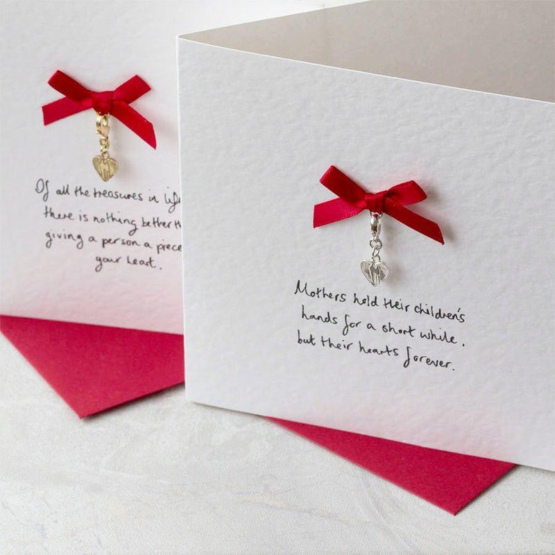 Personalised Heart Charm Card