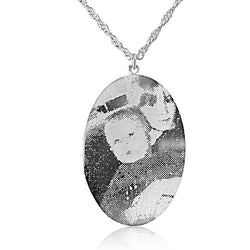 Personalised Oval Photo Necklace (medium size)