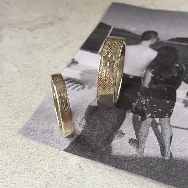 Personalised Wedding Rings with Photo Silhouette