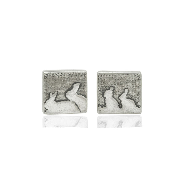 Rabbit Family Stud Earrings