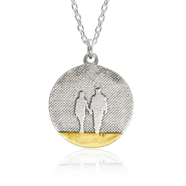 Round Beach Couple Necklace