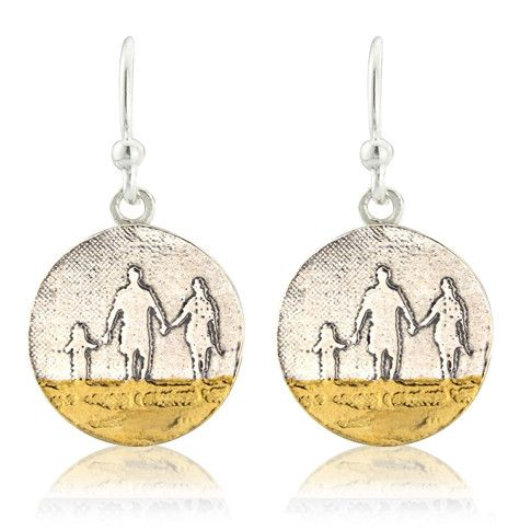 Round Beach Family Drop Earrings