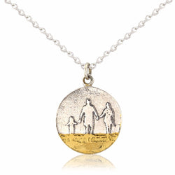 Round Family on the Beach Necklace