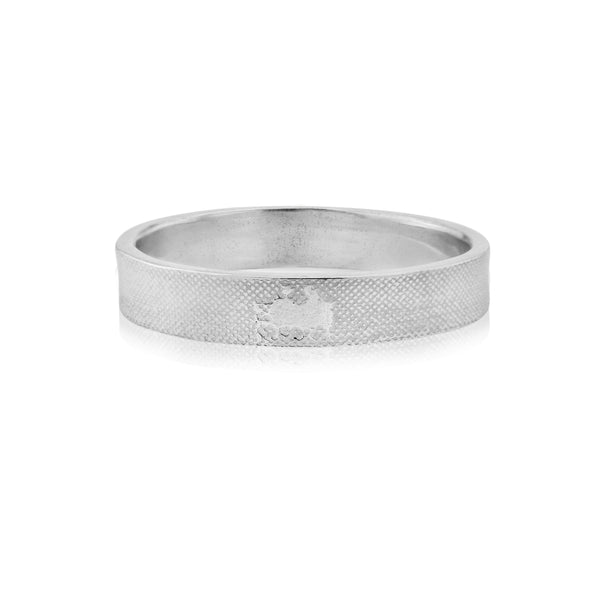 Side by Side Wedding Ring in White Gold/Platinum