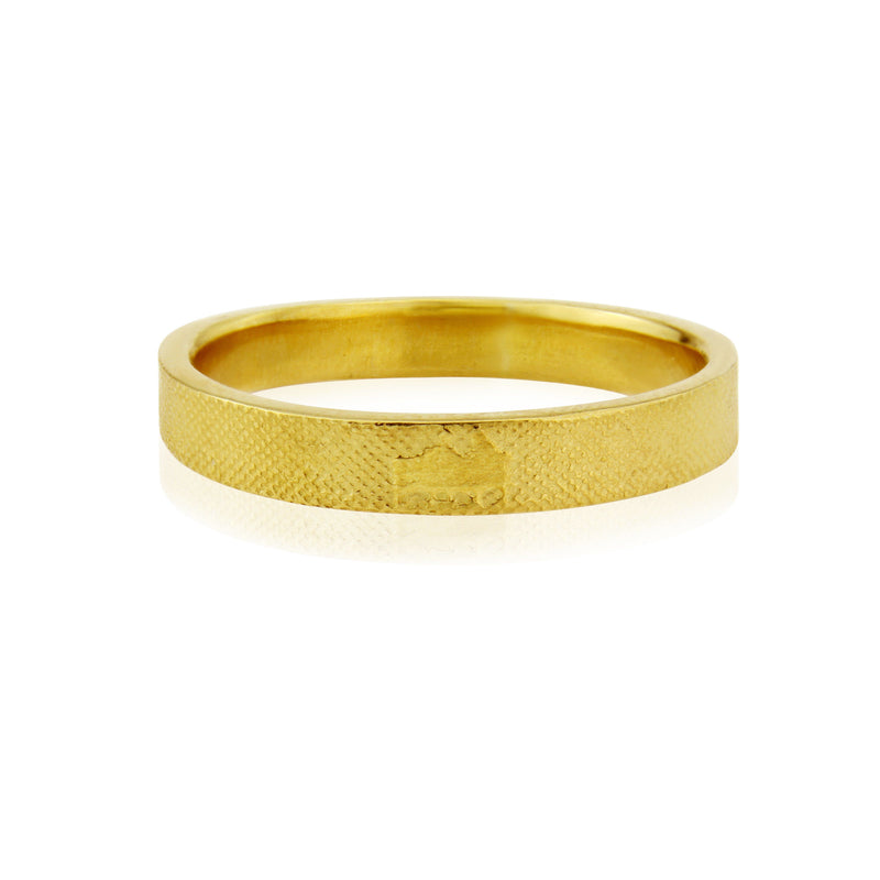 Side by Side Wedding Ring in Yellow Gold