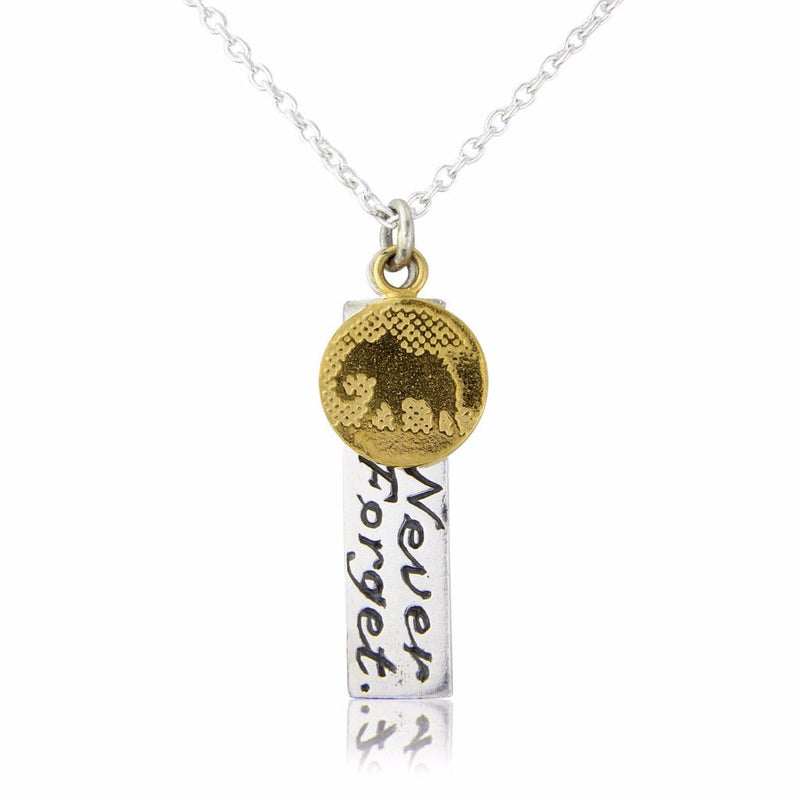 Silver Elephant Necklace With 22ct Gold Vermeil