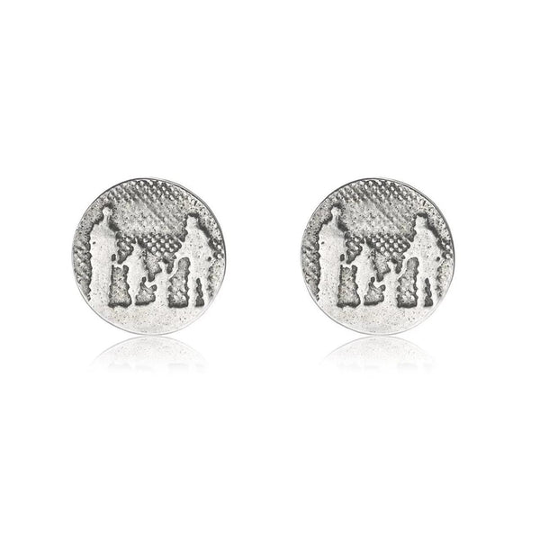 Silver Family Earrings