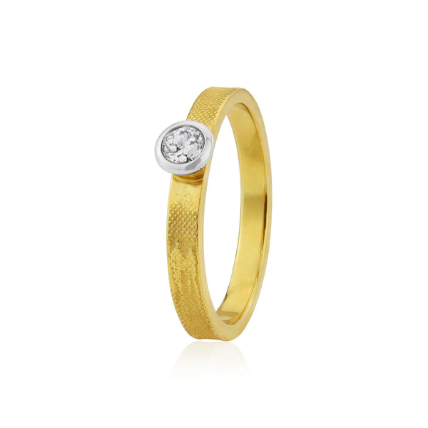 Sunset Chasers Engagement Ring in Yellow & White Gold