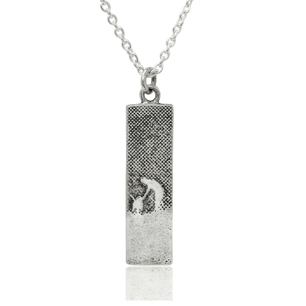 Walk With Me Silver Dog Necklace (Small)