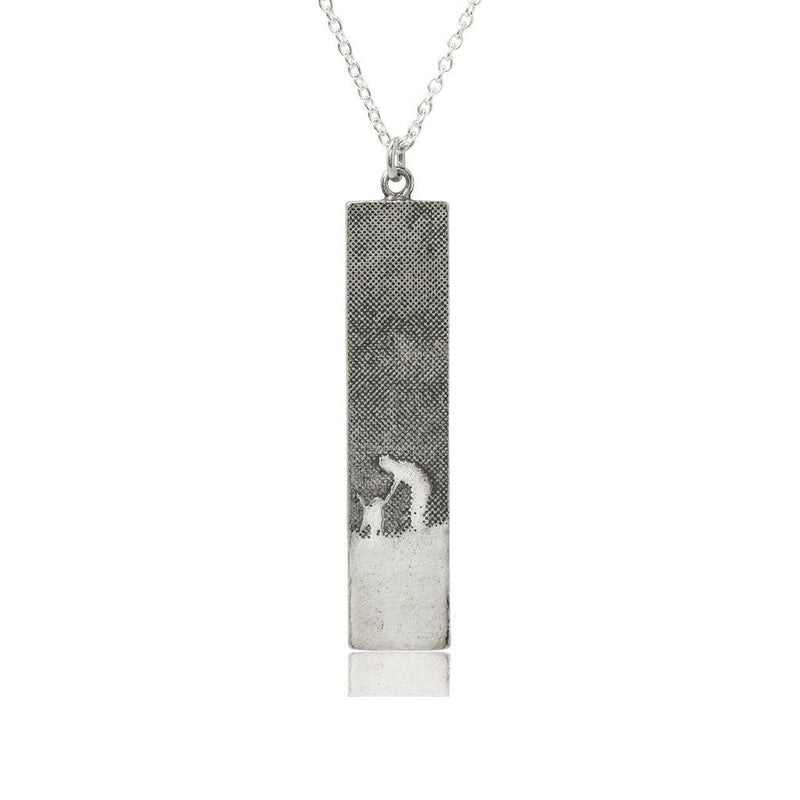 Walk With Me Silver Dog Pendant (Large)