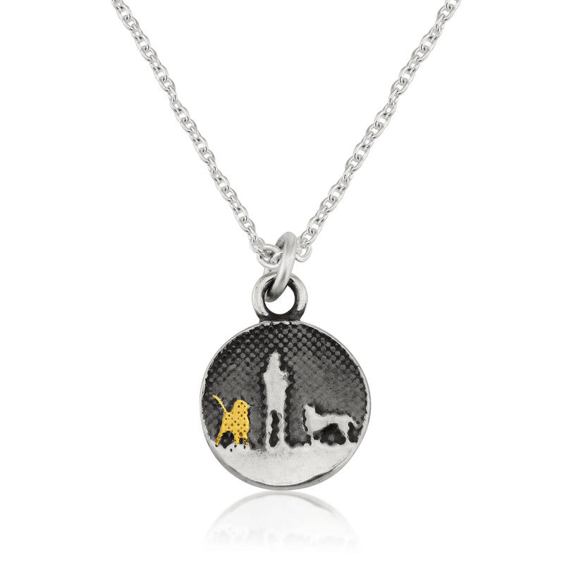 Walk's Under Night's Sky Golden Dog Necklace (small)