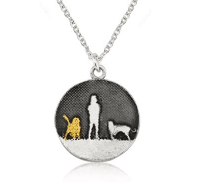 Walk's Under Night's Sky Necklace with Golden Dog (small)