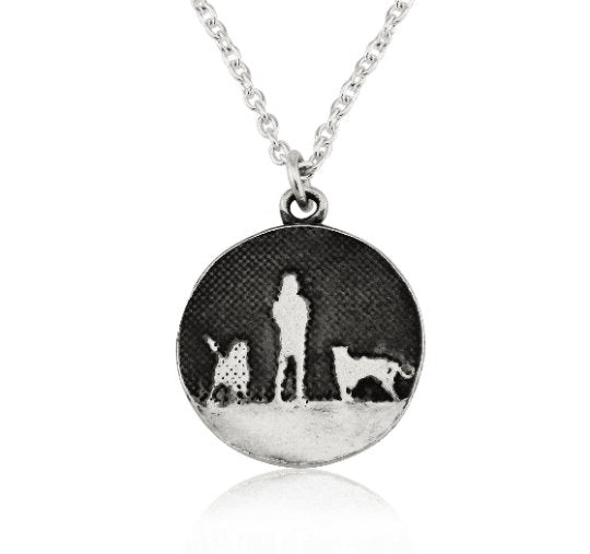 Walks Under Night's Sky Two Dog Necklace