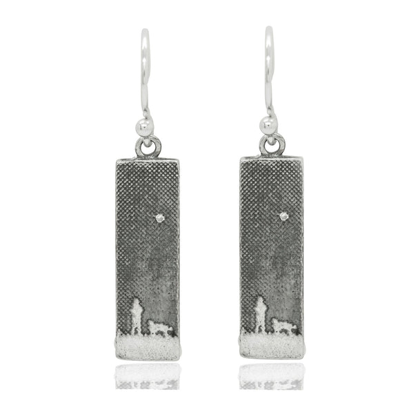 Walk's Under The Moonlit Sky Dog Earrings With Diamond Star