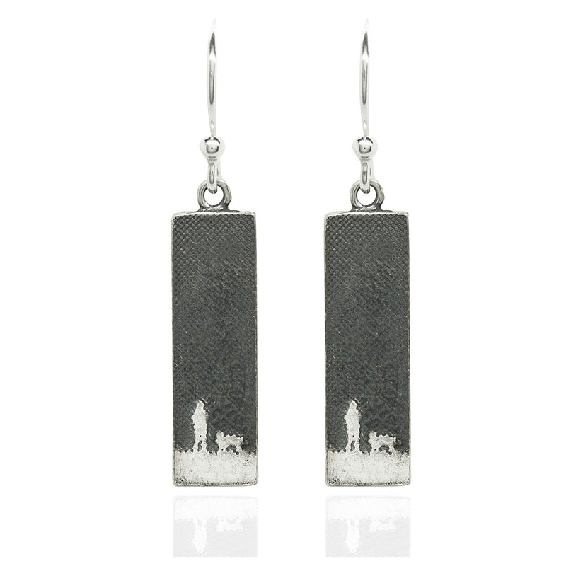 Walk's Under The Moonlit Sky Silver Dog Earrings