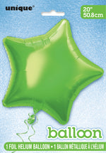Lime Green Star Foil Balloon INFLATED