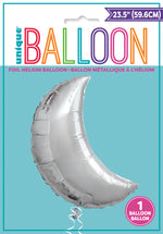 Silver Moon Balloon INFLATED