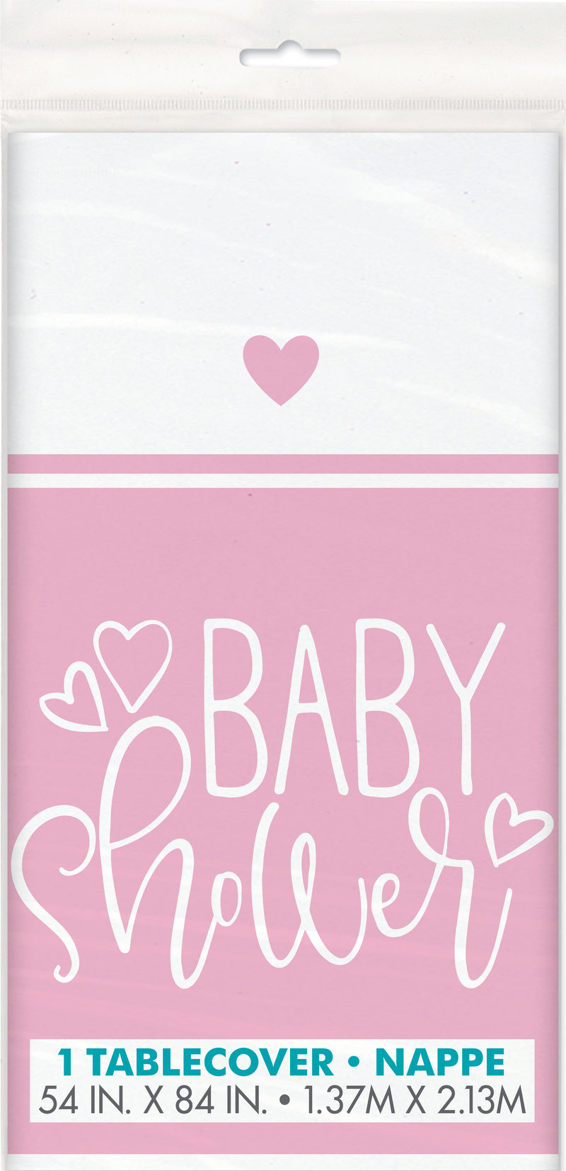 Pink Hearts Tablecover - Uk Baby Shower Co ltd