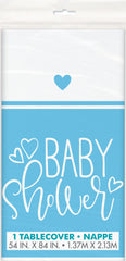 Blue Hearts Tablecover - Uk Baby Shower Co ltd