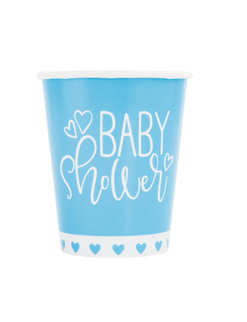 Blue Hearts Paper Cups - Uk Baby Shower Co ltd