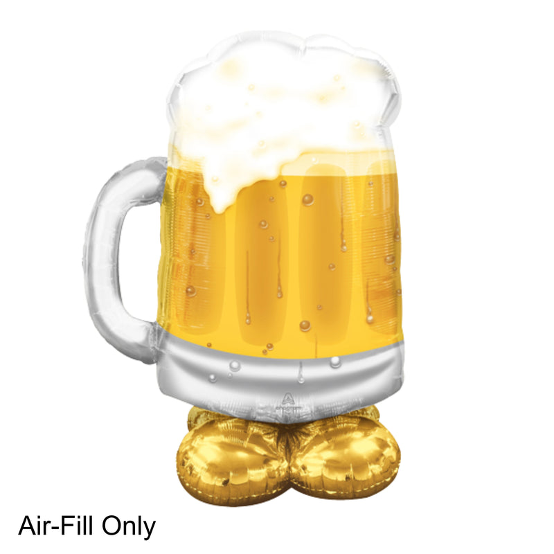 Beer Tankard Giant Standing 124cm Balloon by Airloonz
