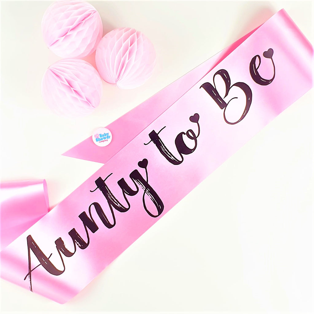 Aunty to Be Sash - Pink
