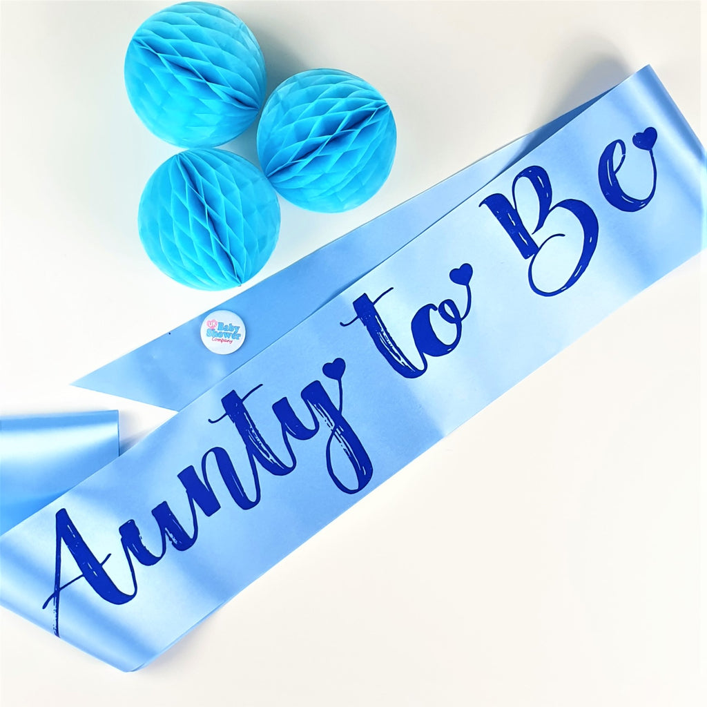 Aunty to Be Sash - Blue