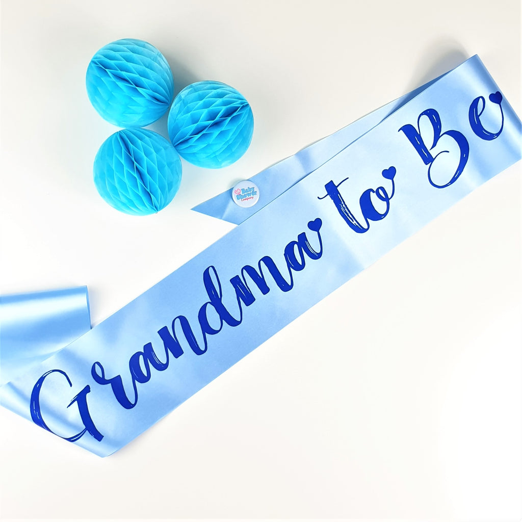 Grandma to Be Sash - Blue - Uk Baby Shower Co ltd