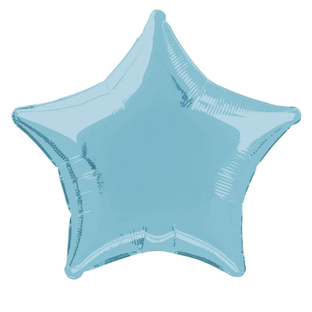 Baby Blue Star Foil Balloon INFLATED