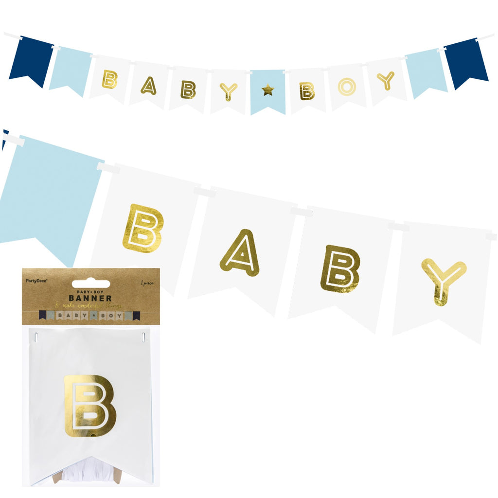Baby Boy Luxury Ribbon Banner