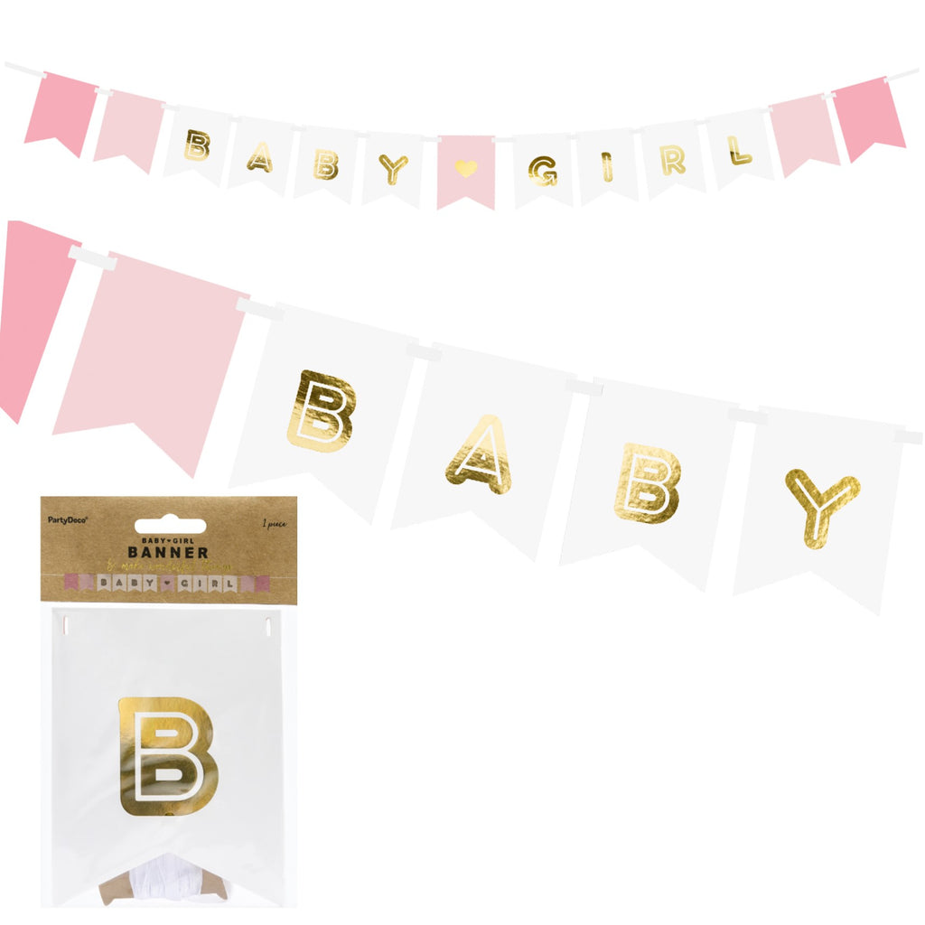Baby Girl Luxury Ribbon Banner